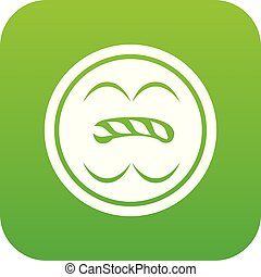 Circle button icon green vector