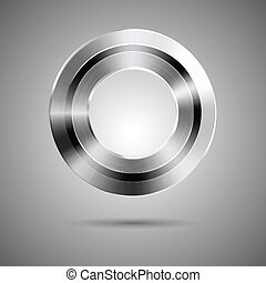 Circle button template with hole on center