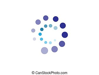 abstract C dotted logo design.