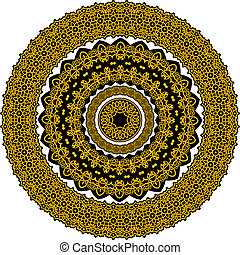 Circle celtic ornament in medieval style
