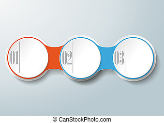 Circle Chain 3 Options - Infographic design with colored and...
