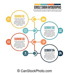 Circle Chain Infographic