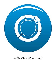 Circle chart icon blue