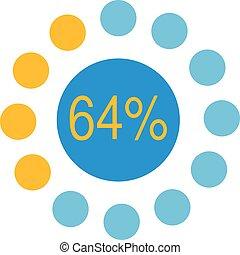 Circle chart infographic vector diagram, graph, presentation.