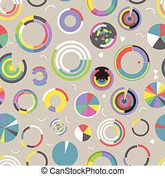 Circle chart seamless pattern