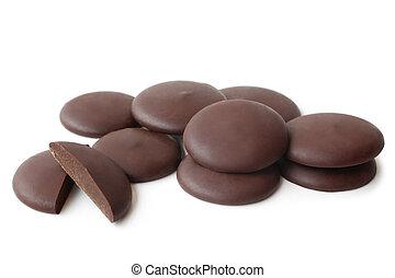 Circle chocolate candies