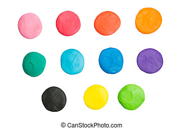 clay of different colors