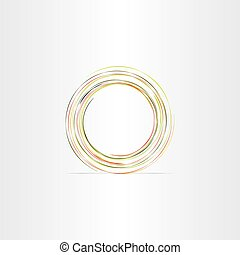 circle colorful abstract background