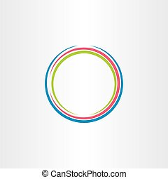 circle colorful frame icon vector background design symbol
