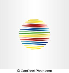 circle colorful line globe vector abstract background