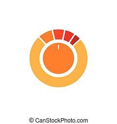 circle controller button symbol vector