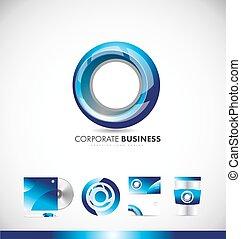 Circle corporate business logo icon