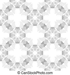 Circle cross gray abstract seamless pattern