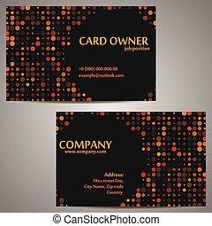 Circle Dark Business Card Template
