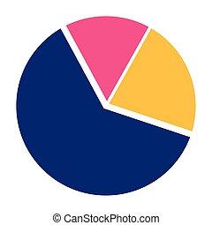 circle data graphic icon cartoon