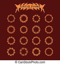 Circle Decorative Flame collection set