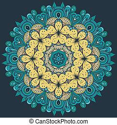 Circle decorative floral ornament rosette