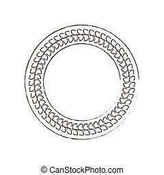 circle decorative frame icon