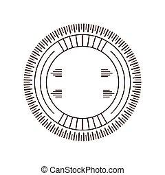 circle decorative frame sticker