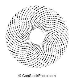 Circle design element. Abstract rotation circular pattern.