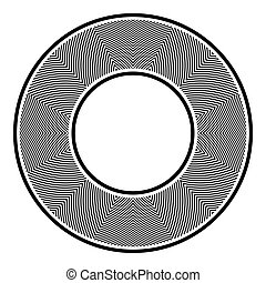 Circle design element. Geometric pattern in round shape.