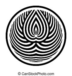 Circle design element. Lines pattern in round shape.