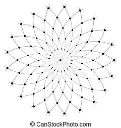 Circle design element. Rotation circular pattern.