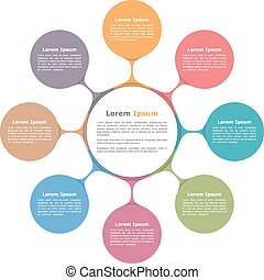 Circle Diagram - Circle diagram with eight elements, ...