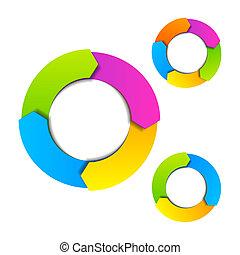Circle diagrams vector illustration