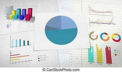 Circle diagram for presentation, Pie chart indicated 30...