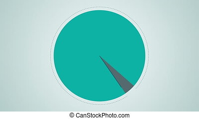 Circle diagram for presentation, Pie chart indicated...