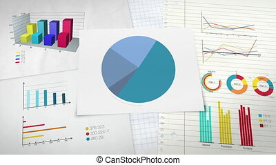 Circle diagram for presentation, Pie chart indicated 50...