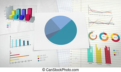 Circle diagram for presentation, Pie chart indicated 70...