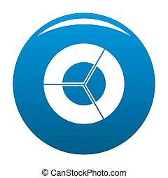 Circle diagram icon blue