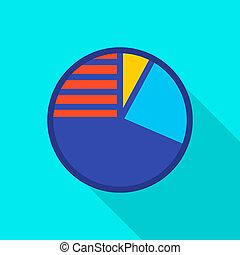Circle diagram icon, flat style