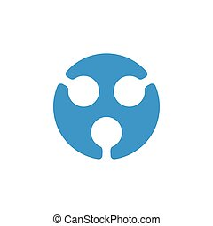circle dots negative space logo vector