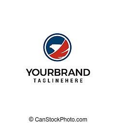 circle eagle head logo designs template