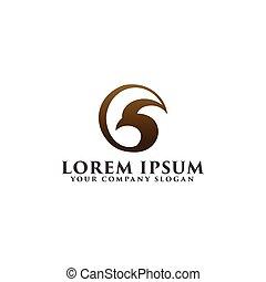 circle eagle logo design concept template