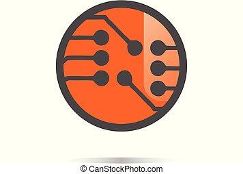 circle electro logo design