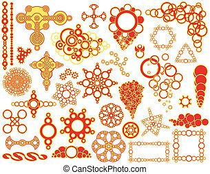 Circle elements - Set of editable vector design elements ...