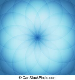 Circle elements with blue background