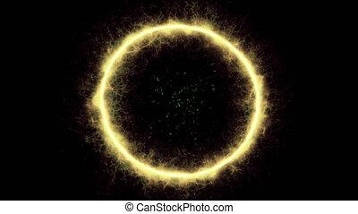Circle Energy Teleport Portal - Circle Energy portal appears...