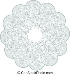 Circle floral drawn scribble