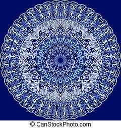 Circle floral ornament.