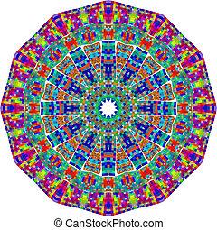 Circle floral ornament