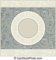 circle floral vintage template