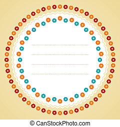Circle flower frame.