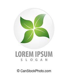 circle four leaf concept design. Symbol graphic template element vector