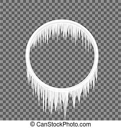circle frame icicles