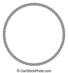 Circle frame made by linear spirals